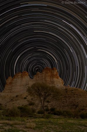 Castle Rock startrails