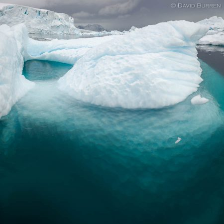 The undersides of icebergs are facscinating!